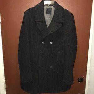 All Saints Men's Wool Coat